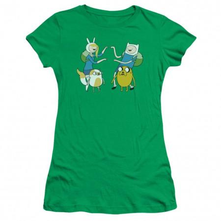 Adventure Time Fionna and Finn Womens Tshirt