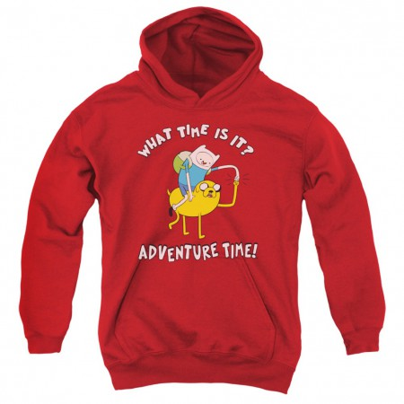 Adventure Time What Time Is It Red Youth Hoodie