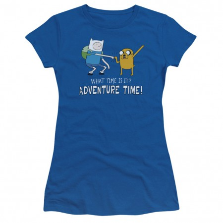 Adventure Time What Time Is It Womens Tshirt