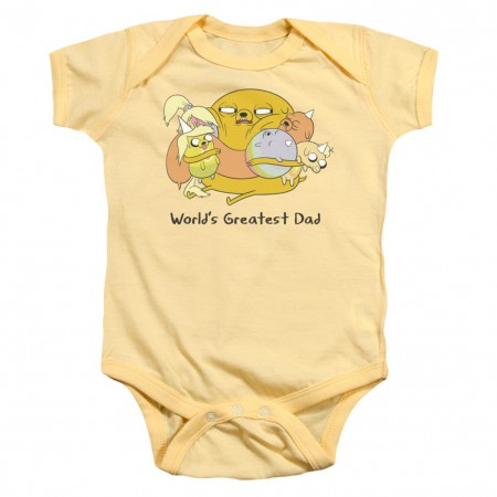Adventure Time Worlds Greatest Dad Baby Infant Snap Suit