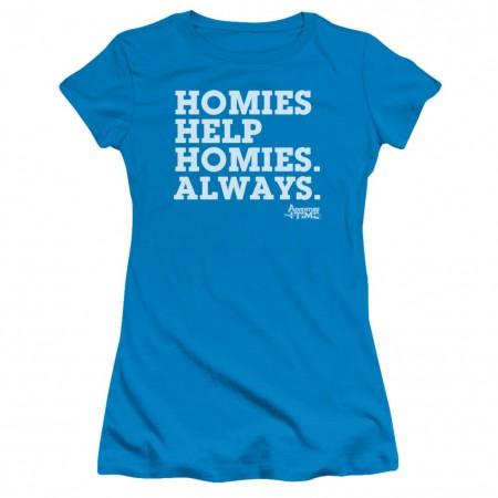 Adventure Time Homies Help Homies Womens Tshirt