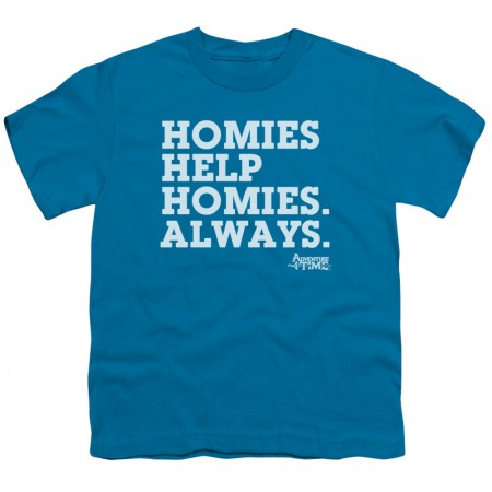 Adventure Time Homies Help Homies Youth Tshirt