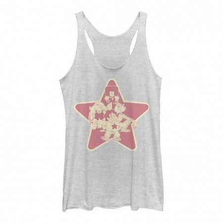 Cartoon Network Steven Universe Group Shot White Juniors Tank Top