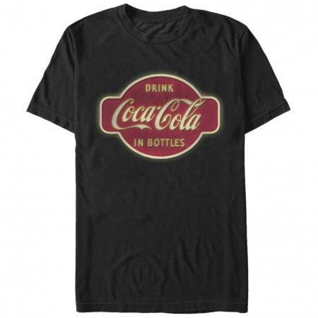 Coca-Cola Retro Sign Black T-Shirt
