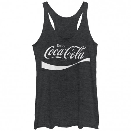 Coca-Cola Flip it and Reverse it Black Juniors Tank Top