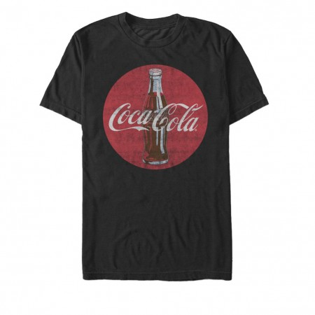 Coca Cola Round Logo Black Tshirt