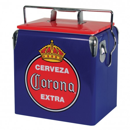 Corona Vintage Red and Blue Ice Chest