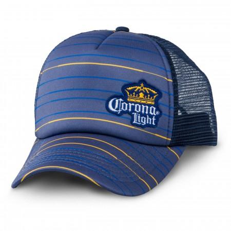 Corona Light Mesh Striped Trucker Hat