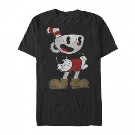 Cuphead and Mugman Spotlight Black Tshirt