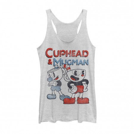 Cuphead Pair of Cups Women's White Tank Top