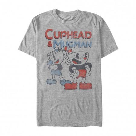 Cuphead and Mugman Partners Grey Tshirt