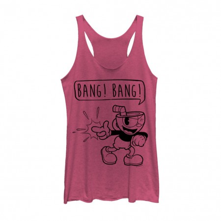 Cuphead Bang Bang Women's Pink Tank Top