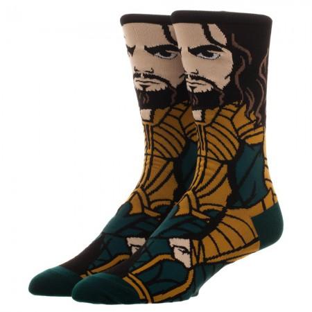 Justice League Men's Aquaman Portrait Socks