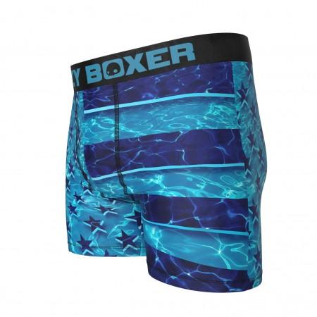 American Flag Swimming Pool Boxer Briefs