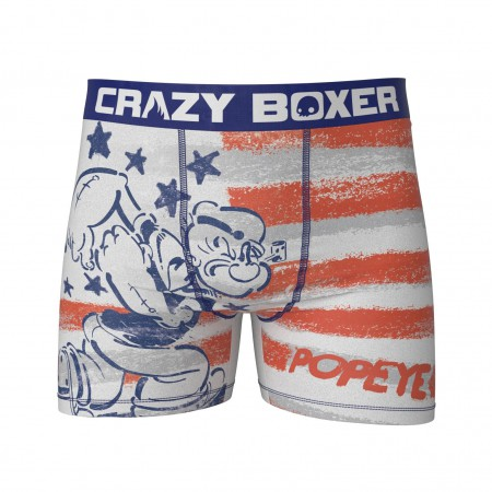 Popeye Men's Stretch Patriotic Boxer Briefs