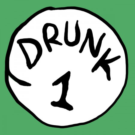 Drunk 1 Bottle Opener Green Graphic TShirt