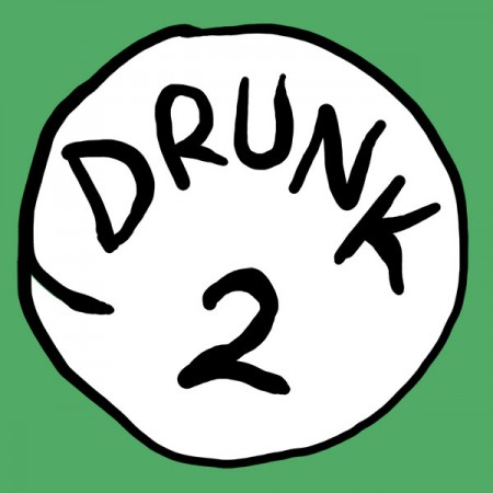 Drunk 2 Bottle Opener Green Graphic TShirt