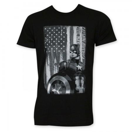 Captain America Patriot Black T-Shirt