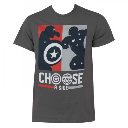 Captain America Civil War Men's Choose A Side T-Shirt