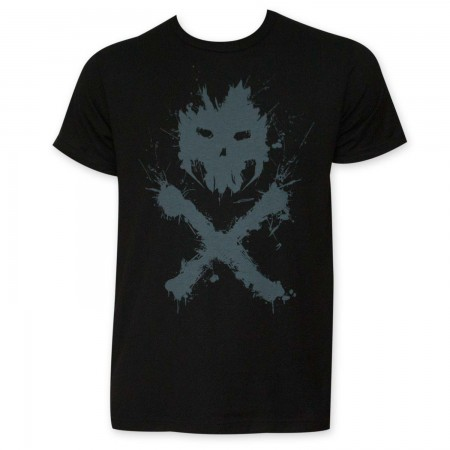 Captain America Crossbones Black Logo T-Shirt