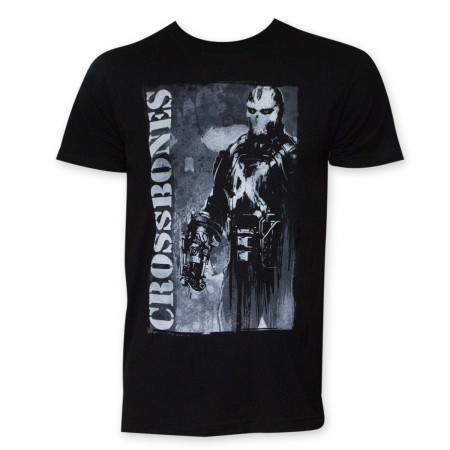 Captain America Crossbones Black T-Shirt