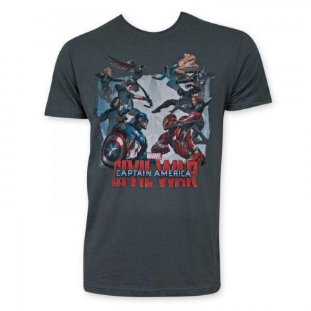 Captain America Civil War Gray T-Shirt