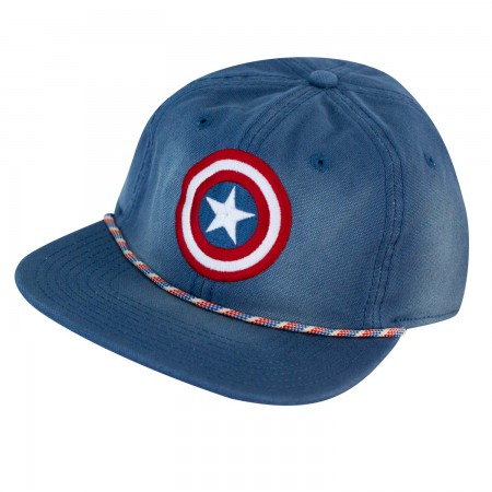 Captain America Star Logo Washed Snapback Hat