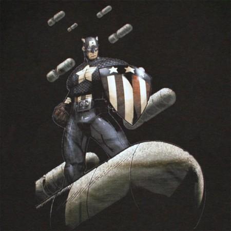 Captain America Cap Is Da Bomb T Shirt - Black