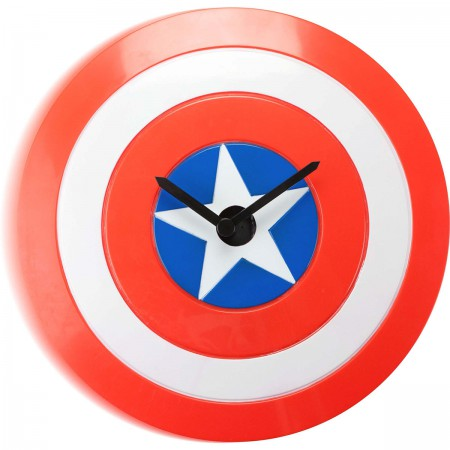 Captain America Shield Logo Wobble Wall Clock