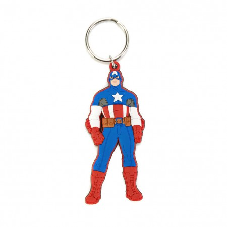 Captain America Rubber Character Keychain