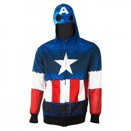 Captain America Sublimated Costume Hoodie