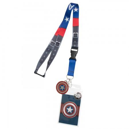 Captain America Keychain Lanyard