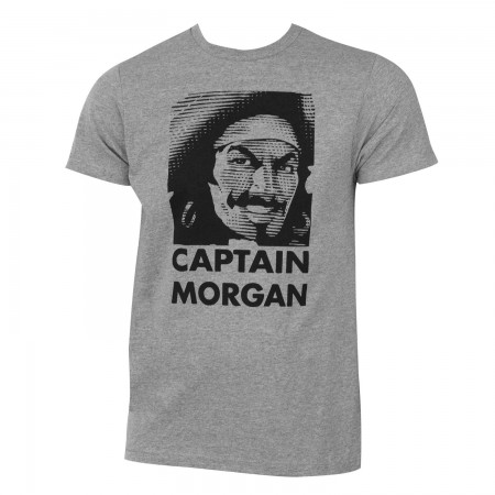 Captain Morgan Men's Gray Pirate Logo T-Shirt