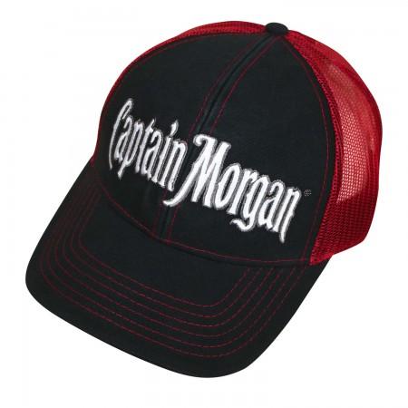 Captain Morgan Red And Black Mesh Trucker Hat