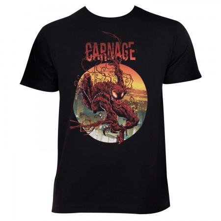Carnage Men's Black Circle Logo T-Shirt