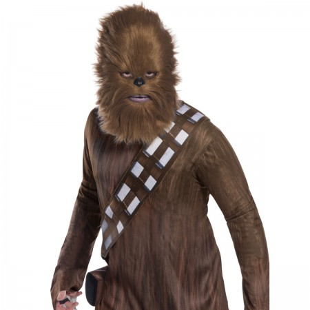 Star Wars Chewy Chewbacca Costume Fur Half Mask