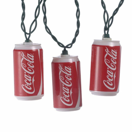 Coca Cola Classic Can String Lights