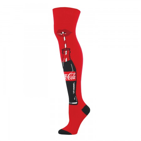 Coca Cola Red Just A Sip Logo Women's Knee High Socks