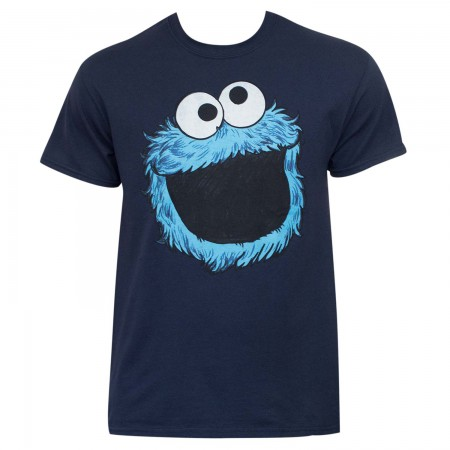 Sesame Street Cookie Monster Cartoon Face Shirt