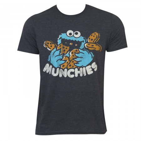 Sesame Street Men's Grey Munchies T-Shirt