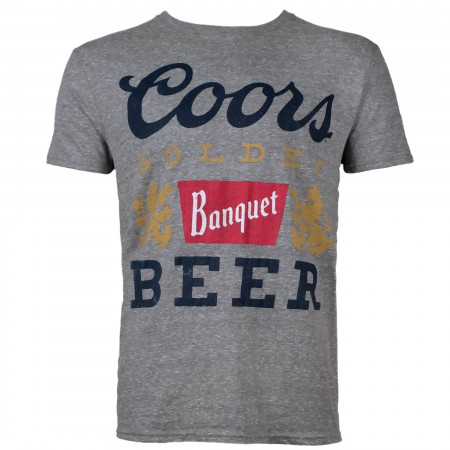 Coors Banquet Logo Men's Grey T-shirt