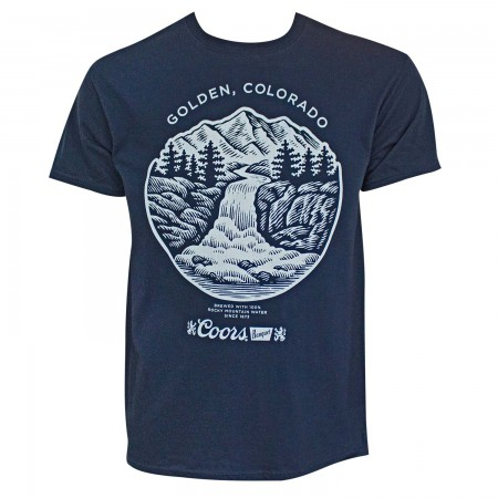 Coors Golden Colorado Men's Navy Blue T-Shirt