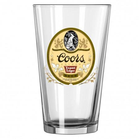 Coors Golden Export Pint Glass