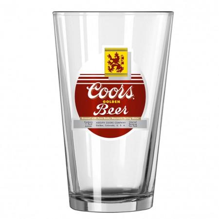 Coors Beer Vintage Pint Glass