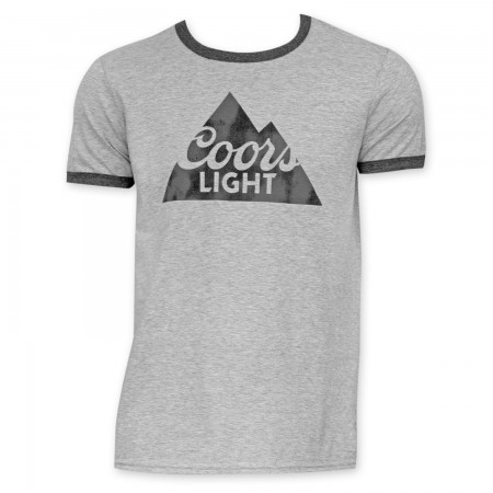 Coors Light Men's Black And Grey Ringer T-Shirt