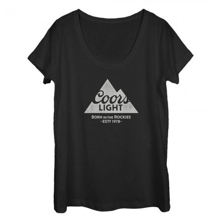 Coors Light 1978 Women's U Neck Black Tshirt