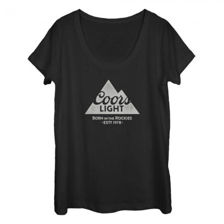 Coors Light 1978 Women's U Neck Black Tshirt