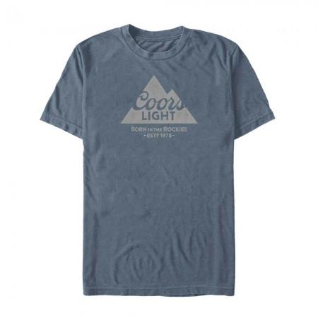 Coors Light Mountain 1978 Men's Blue T-Shirt