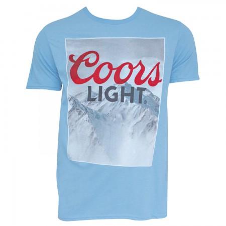 Coors Light Men's Light Blue Mountain Logo T-Shirt