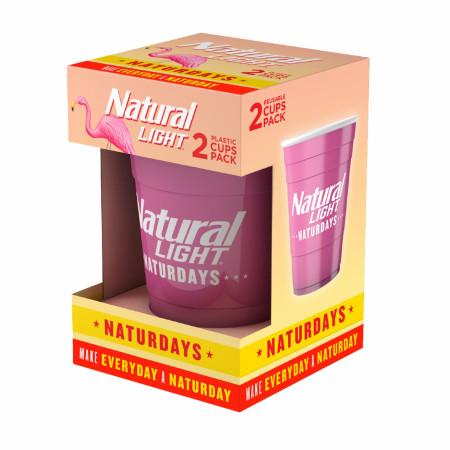 Natural Light Naturdays Reusable Plastic Cups 2-Pack